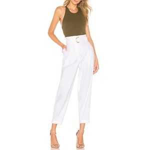 A.l.C. White Diego Pant in Gesso Gold Buckle 10